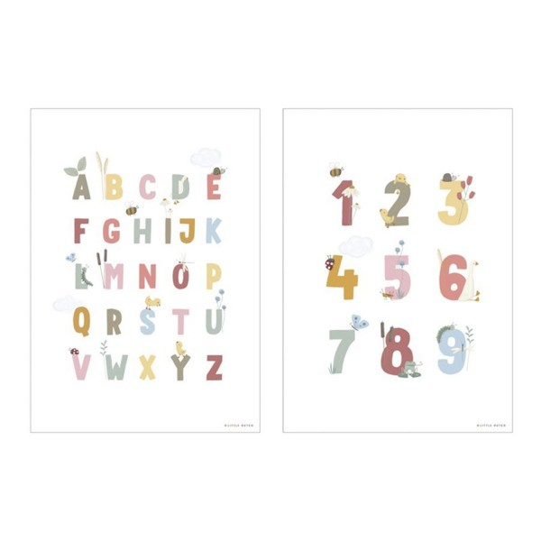 Poster A3 ABC & 123 Pink